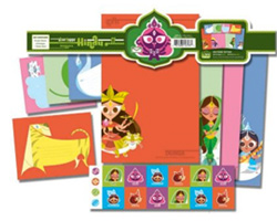Hindu Godess Stationary Set